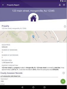 BeenVerified property report section