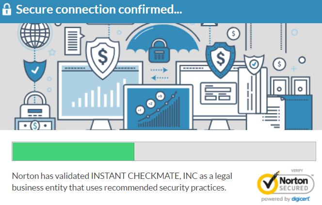 Instant Checkmate security pop-up message