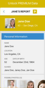 Instant Checkmate smartphone profile section
