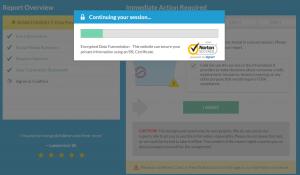 TruthFinder security notification