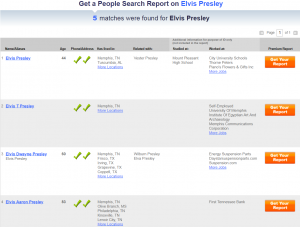 US Search person lookup results